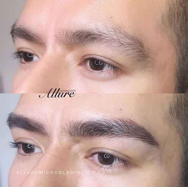 Combination brows for men.😎 Microbladin