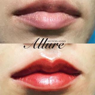 semi-permanent lips tattoo._check out ou