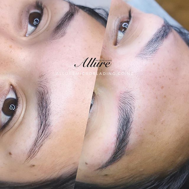 Up close_ Microblading brows. Natural lo