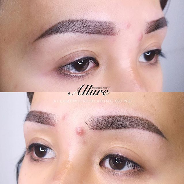 Ombre powder brows. Bold and low arch wi