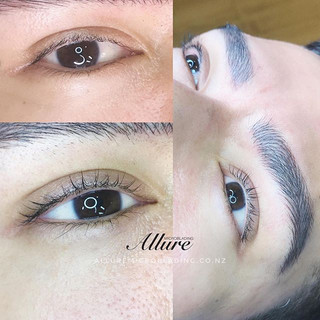 Eyelash lift + Combination brows for men