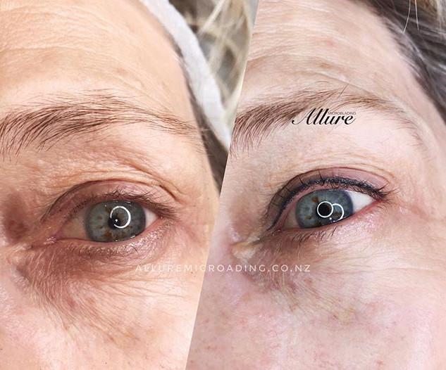 Healed  result eyeliner tattoo 👁👁 (1st