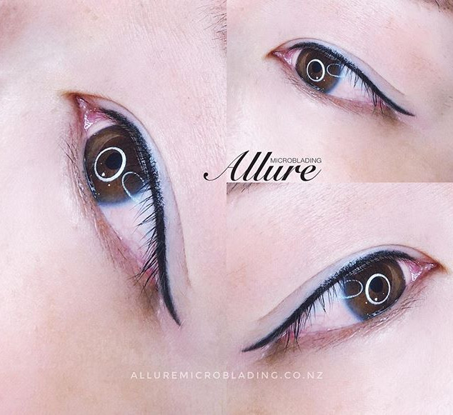 Winged eyeliner tattoo. 👁👁 ._._Done by