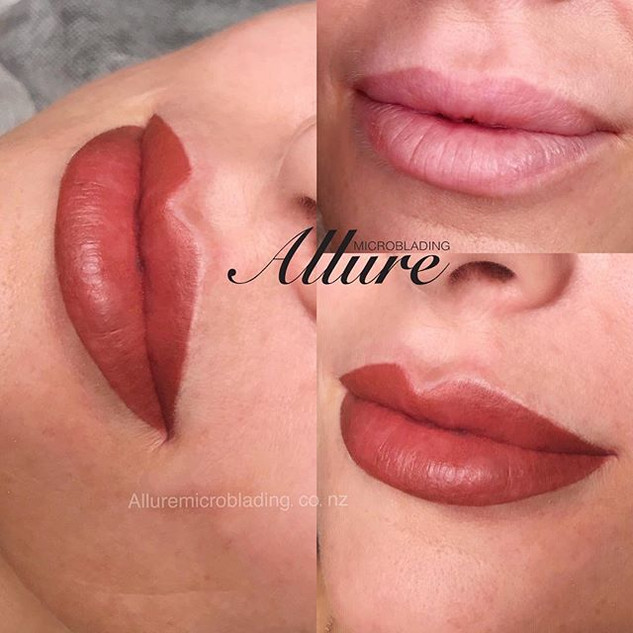 Gorgeous lips 👄 🌹 They appear fuller a
