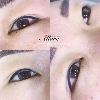 Eyeliner tattoo 👁👁.😍_With our techniq