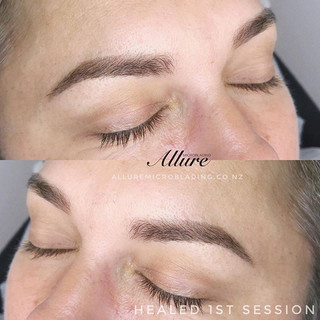 Healed Ombre powder brows 1st session. T