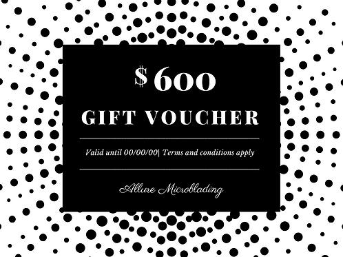 E-Voucher - $600