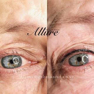 A fresh set of upper eyeliner tattoo.👁?