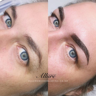 Cover up previous tattooed brows from an