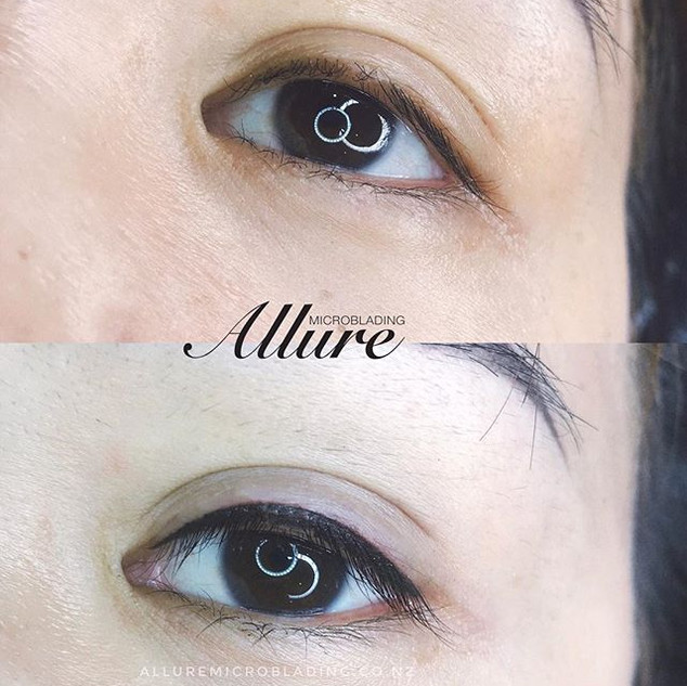 Eyeliner tattoo. Client had her 1st sess