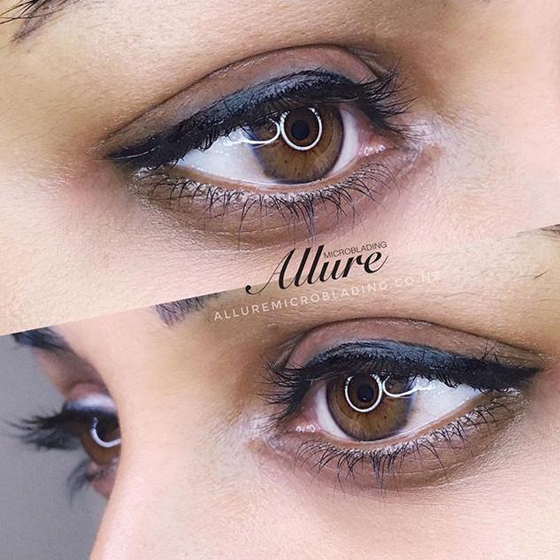 winged eyeliner tattoo🔥🔥👁👁 Covered u