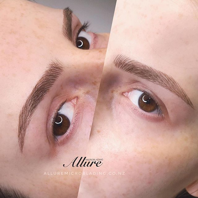 Touch up, the 2nd session, Microblading