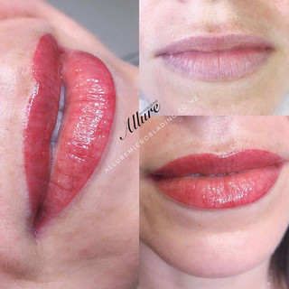 Gloss and go lips. 💋 _Lip tint tattoo.