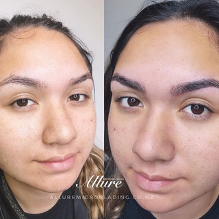 Microblading brows. Natural look require