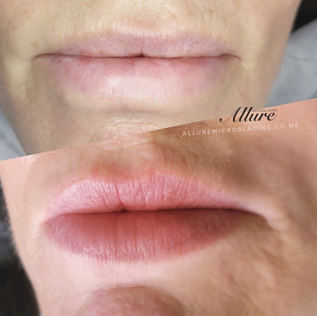 Healed Lip Blushing 1st session