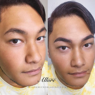 Combination brows for men 😎Microblading