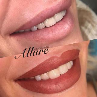 Full Lip contouring, nano Lip tattooing.
