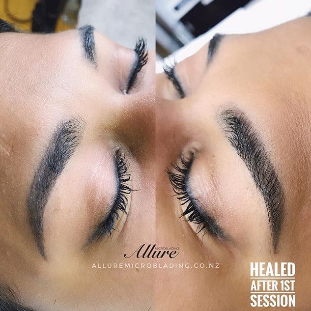 Healed Ombre powder brows, the 1st sessi