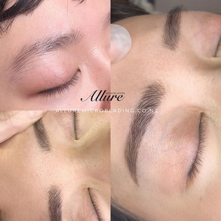 Healed Microblading brows._._._📩 allure
