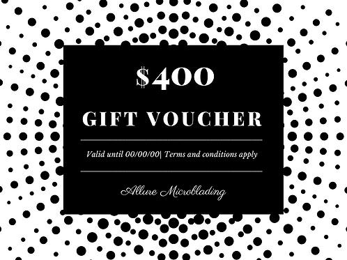 E-Voucher - $400