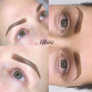 Annual touch-up. Ombre powder brows for