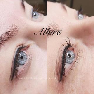 Healed little winged eyeliner tattoo res