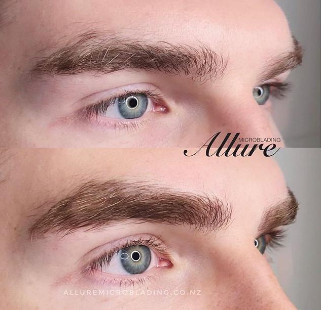 Microblading eyebrow for men_