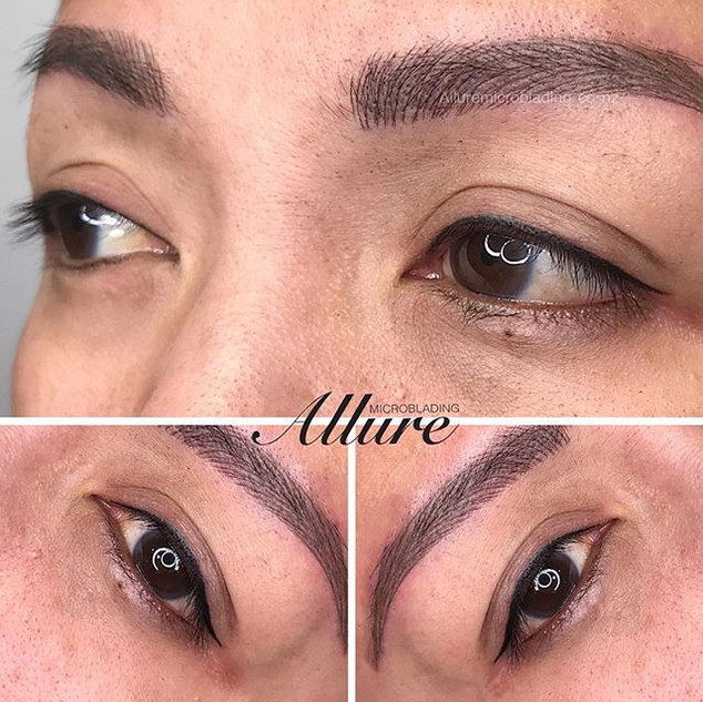 Winged eyeliner tattoo. Client had her l