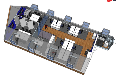 3D Model of Roof Space