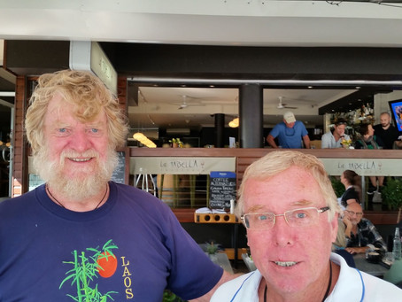 Morning coffee with two who helped create 'Parc Exclusif' (later renamed as 'Chesapeake Estate')