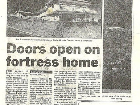 These two newspaper articles about our house date back to the 1980's