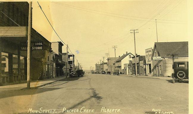 PINCHER CREEK MAIN STREET LOOKING EAST