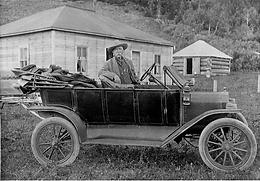 Kootenai Brown in Car