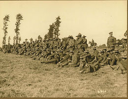 MILITARY CONTINGENT ON HILLTOP