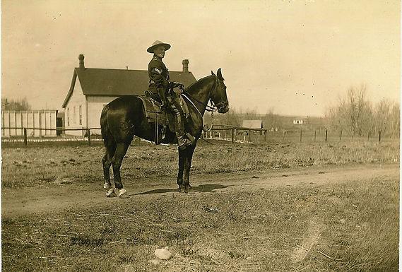 NWMP MEMBER ON HORSEBACK