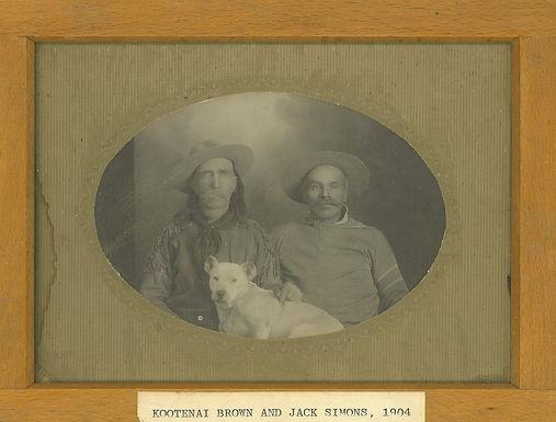 KOOTENAI BROWN and JACK SIMONS, w/ JACK RUSSELL DOG