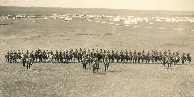 CAVALRY DRILL AT SARCEE BARRACKS, CALGARY