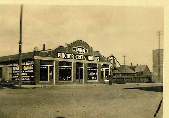 THE MECHANIZED HISTORY of PINCHER CREEK: THOSE EARLY GARAGES