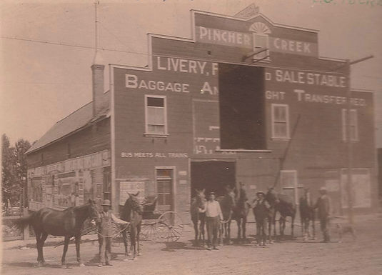 A LOOK BACK AT A FEW OF THOSE PIONEER LIVERY STABLES