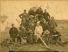 MEN OF WALDRON RANCH ROUND-UP CAMP
