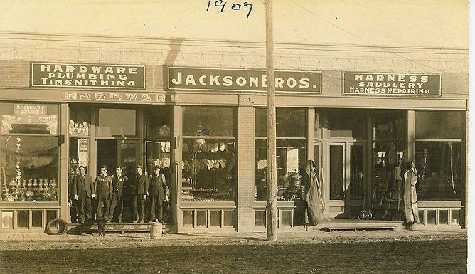 JACKSON BROS. HARDWARE STORE FRONT