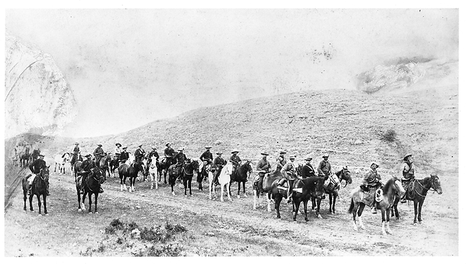 ROCKY MOUNTAIN RANGERS IN COLUMN FORMATION