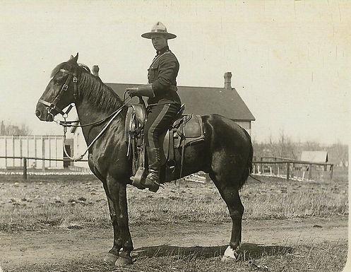 RNWMP MEMBER ON HORSEBACK