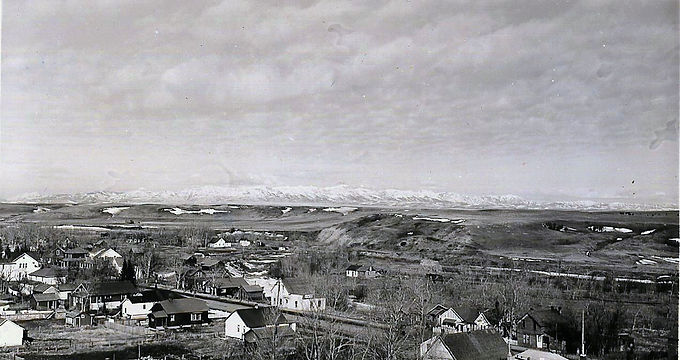 Pincher Creek ca. 1910, Looking North from the Town Hall Bell Tower