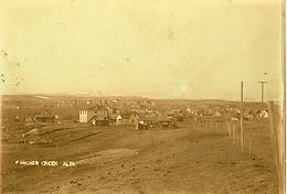 PINCHER CREEK, Ca, 1890s, from the North, looking South-West