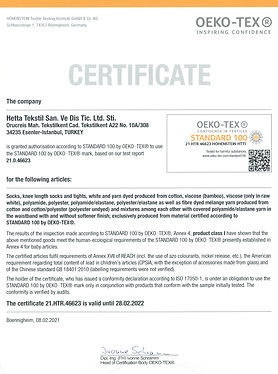 Hetta certificate