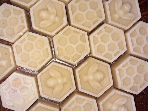 Barras para la piel de cera de abeja, aceite de coco y cacao
