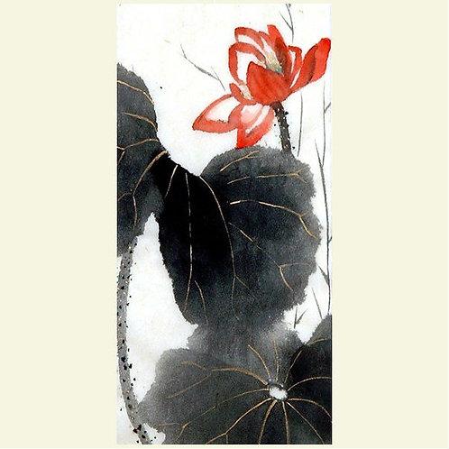Crimson Lotus (set of 5 greeting cards)