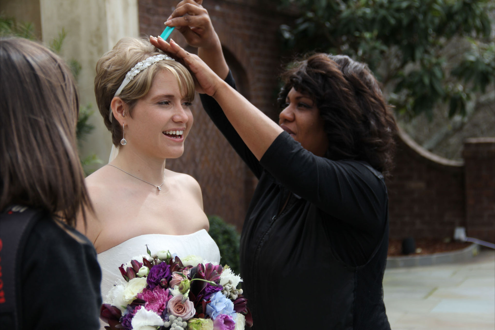 Latay Mays Styling Bride's Hair