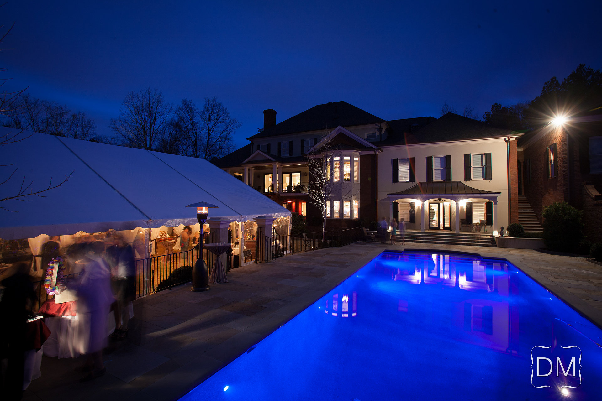 Backyard Wedding Tent & Pool
